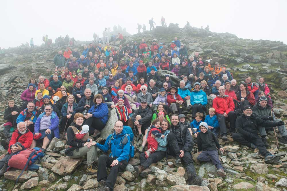 Rockhoppers reunite on top of Snowdon in 2014