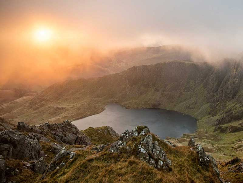 Sunset on Cadair Idris