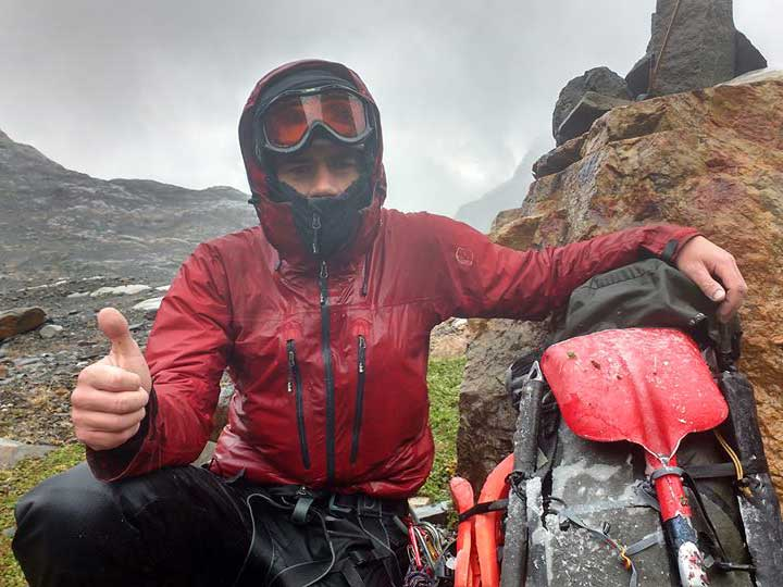Andrew enjoys the Patagonian summer